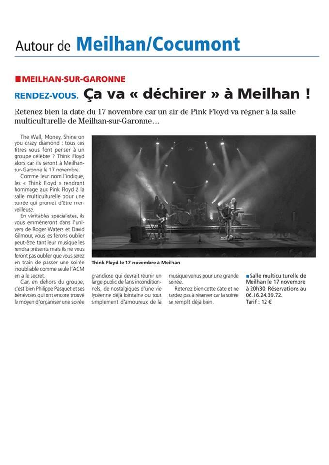 Article Le républicain Meilhan su garonne